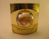 aries ornament 1970s zodiac ornie satin ball ornie new old stock original package bradford novelty