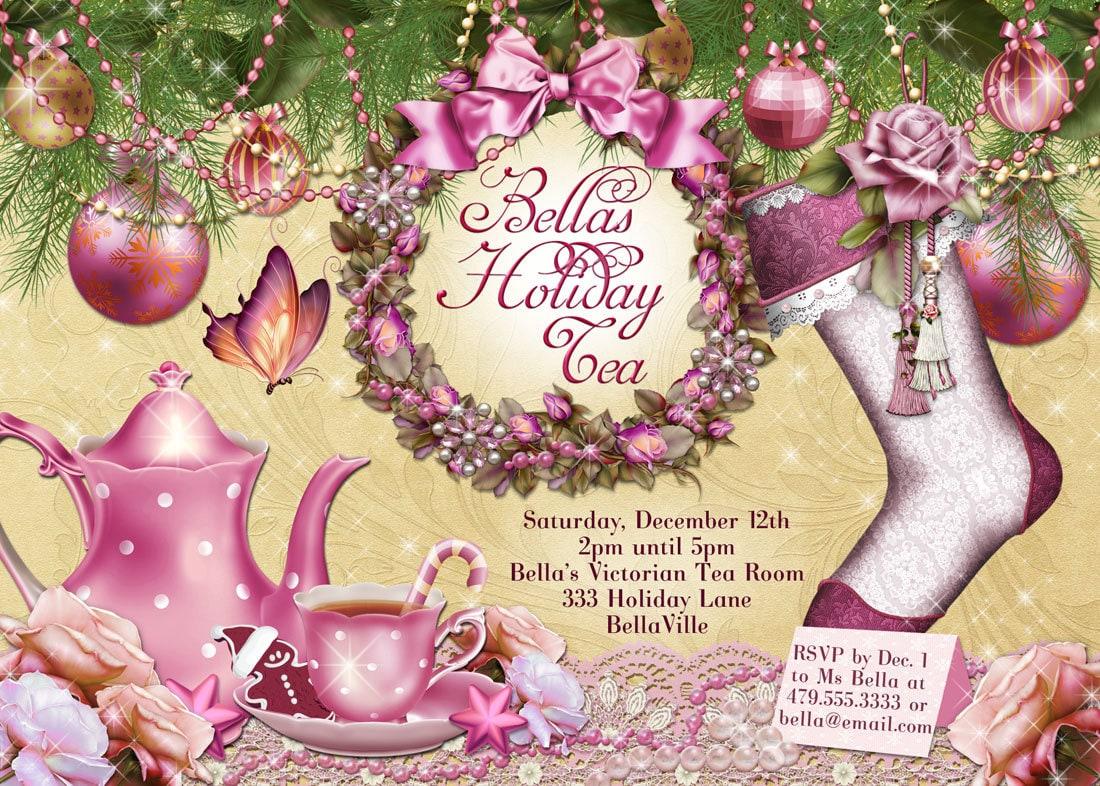 il_fullxfull.517975408_mvcu victorian christmas tea party invitation holiday tea party,Christmas Tea Party Invitations