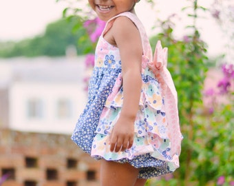 Girls Ruffled Sunsuit Bubble Romper Happy Together Collection