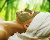 Small Jar Seaweed Facial Mask / Body Wrap - Refreshing and Stimulation Citrus & Eucalyptus Aroma - Deep Cleaning and Detoxifying Product