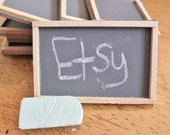 Destash - Set of 8 Mini Chalkboards - For mixed Media/Assemblage Art