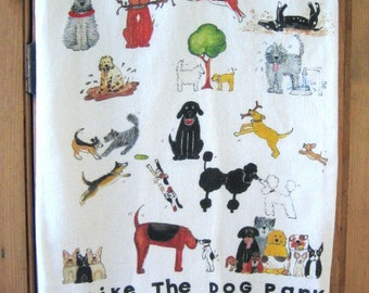 I Like the Dog Park Kitchen Towel