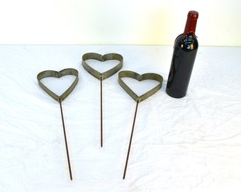 "RING ART - ""Jardin"" - Wine Barrel Ring Garden Hearts - Set of 3 - 100% Recycled"