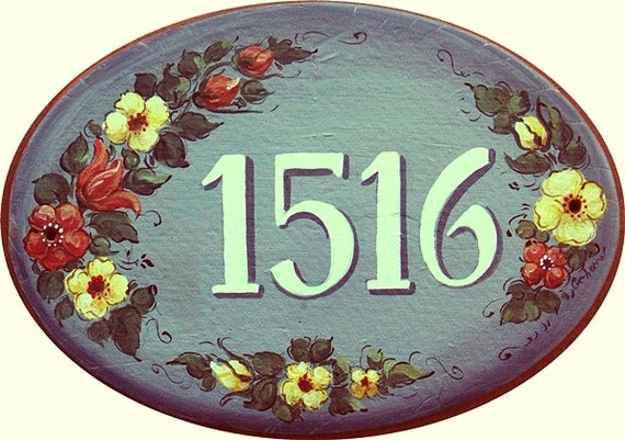 ceramic address plaques house numbers hand painted custom. Black Bedroom Furniture Sets. Home Design Ideas