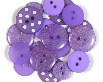 Lilac Assortment Buttons by Doodlebug