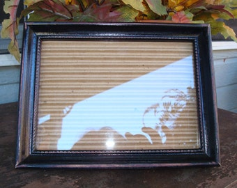 Black distressed picture frame