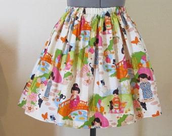 Japanese Full Gathered Skirt - Ready to ship