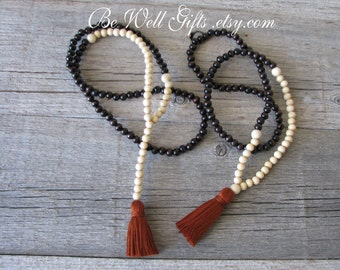 108 Bead Mala Meditation Necklace, Made To Order Malas