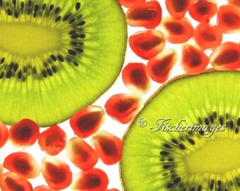Translucent Kiwi II Fruit Food Macro Wall Art Home Decor Photo Print Fine Art Photography