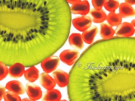 Translucent kiwi ii fruit food macro wall art home decor photo for Decoration kiwi