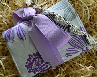 """Mini Jewelry Roll-Up Travel Clutch """"Pretty in Purple""""  (Bridesmaid Packages Available)"""