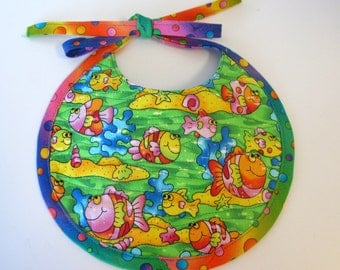 A Little Fishy Quilted Baby Bib