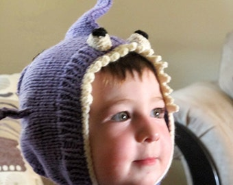 Lilly the Lavender Shark Child's Knit Hat