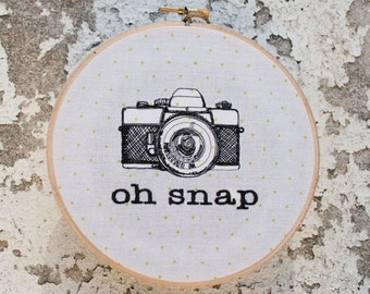 Oh Snap Camera Embroidery