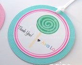 Lollipop Party Favor Tags - sweet shoppe lollipop collection
