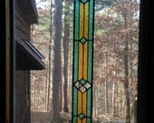 STUNNING stained glass panel window home decor suncatcher glass art panel window treatment