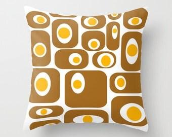 White Modern Pillow,  Mid Century Modern Pillow, Mod Throw Pillow,  Mid Century Modern Cushion,Mod Cushion, Retro Throw Pillow