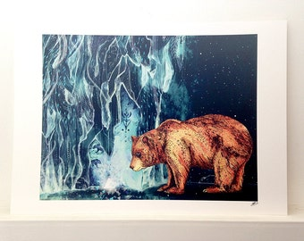 Bear Cave // Signed A3 print