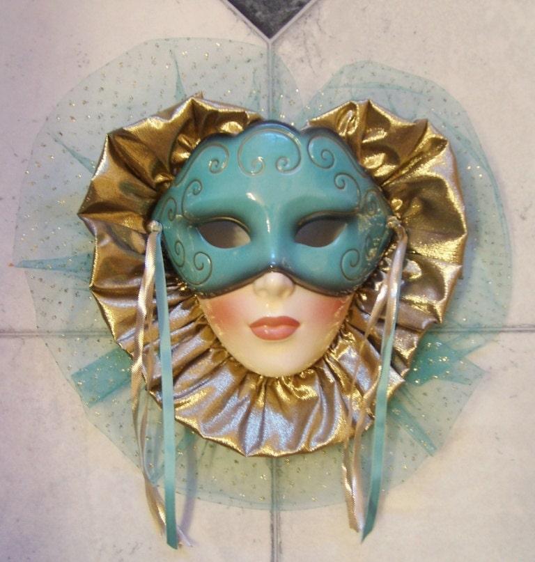 Clay Art Ceramic Face Wall Mask Art Deco Decorative Wall