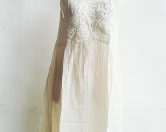 D19, Knitted Spring Off White Cotton Dress, cream sundress