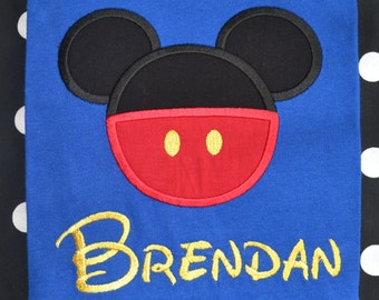 Personalized Boutique Mickey Mouse Shirt