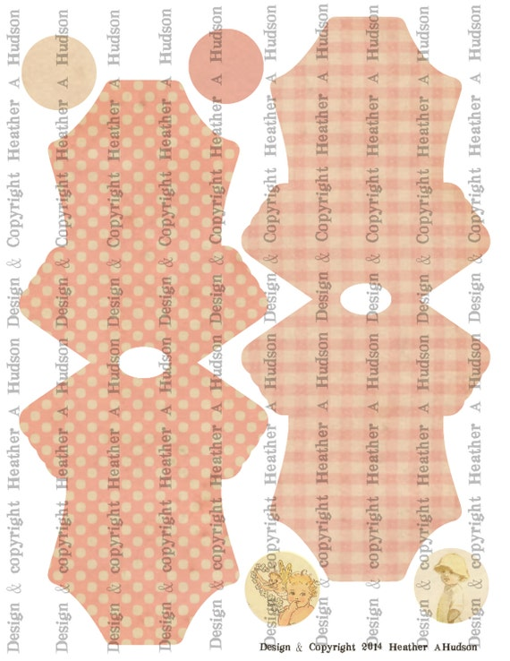 Vintage Baby Girl Boy Twins Pink Onesie Card Base Set Digital Collage sheet Printable