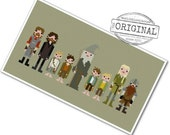 The *Original* Pixel People - The Fellowship of the Ring - PDF Cross Stitch Pattern - INSTANT DOWNLOAD