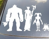 WoW Family Car Sticker set of 4