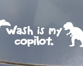 Wash is my Copilot Car Sticker