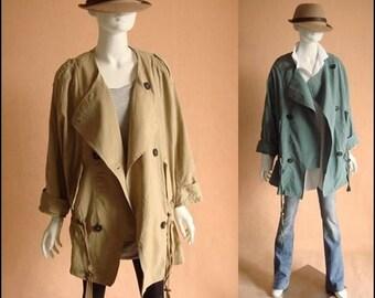 Oversized coat beige (JS089)