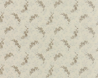 "Snowbird - Frozen in Time in Vanilla Cocoa by Laundry Basket Quilts for Moda Fabrics - 33"" Remnant"