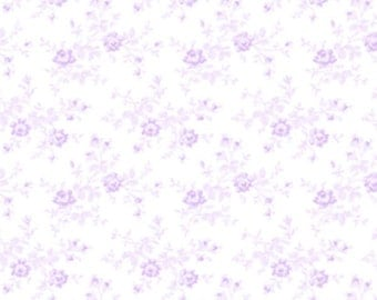 Sausalito Cottage - Small Floral Vine in Lavender by Holly Holderman for Lakehouse Drygoods