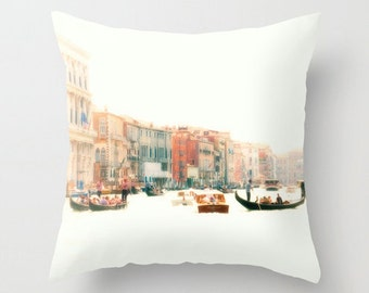 Grand Canal, Venice, Italy, Architecture, Gondola, Gondolier, Decorative Throw Pillow Cover