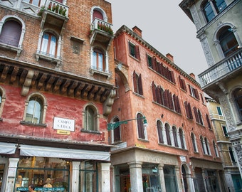 Italy Art, Campo S Luca, Venice, Italy, Canal, Vintage, Fine Art Photography, Architecture,Travel Photography,  fPOE, Print, (6 Sizes)