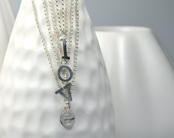 Choose Your Letter, Custom Sterling Silver Initial Letter Necklace