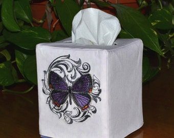 Colorado Hairstreak Butterfly Tissue Box Cover