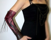 Game of Thrones - Handmade Leather Flame gloves also known as -Kittys-
