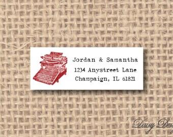 Return Address Labels - Vintage Typewriter Sketch - 120 self-sticking labels