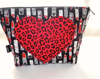 Cosmetic Bag Lipstick Heart