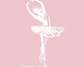 Ballerina Decal - Wall Art  ballet decals , Cute Vinyl  Girls Room  Decor , Dancer Wall stickers - 044