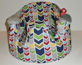 Chevron Bumbo Cover Primary Colors Blue Red Yellow Zig Zag Gumbo - Ready to Ship