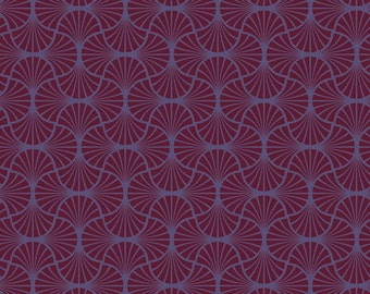 Joel Dewberry - Heirloom - Empire Weave in Garnet - cotton quilting fabric - by the YARD cut
