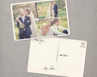 """Wedding Thank You Postcard - the """"Aralyn 1"""""""