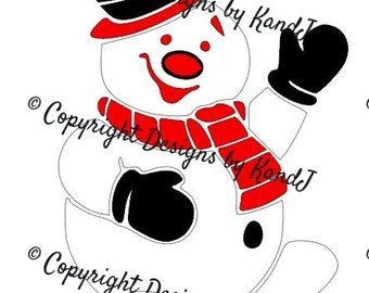 Snowman SVG Christmas Svg Winter SVG File Digital cut file- Instant Download