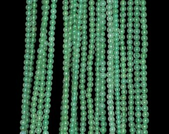 """2mm Green Agate Round beads full strand 16"""" Loose Beads P142744"""