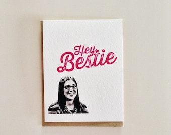 Hey Bestie Big Bang Theory Card