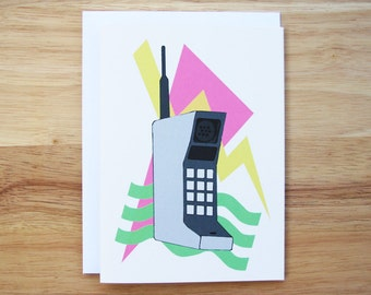 Saved By The Bell Hand Drawn Greeting Card