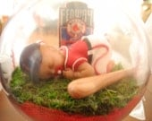 """Baby""""s First Christmas Ornament-Baseball - OOAK-Cake Topper-You Pick Your TEAM"""