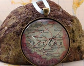 Poland Map Christmas Ornament, Keep a memory Alive