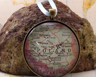 Poland Map Christmas Ornament, Keep a memory Alive / HONEYMOON Gift / Wedding Map Gift / Travel Tree Ornament / Corporate gift
